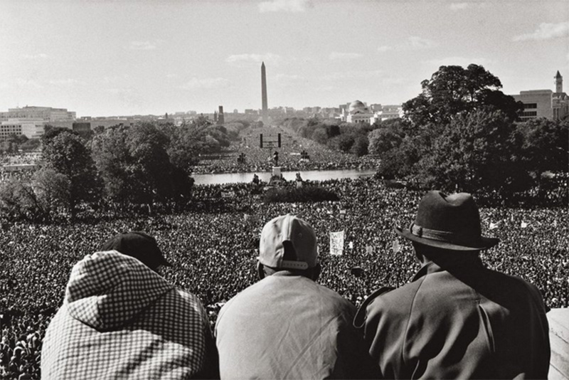 The Million Man March in Washington, D.C. I wanted to show the scope of the march. It was powerful to see the scale. Later the numbers were downplayed, but this photo is a record. It was a historical occasion and though security was tight, I did my best to get to a place where I could make this image.