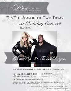 'Tis the Season of Two Divas...A Holiday Concert w/ Greta Pope & Tecora Rogers @ The Promontory