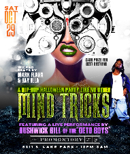MIND TRICKS: A Hip Hop Halloween Party Like No Other @ The Promontory