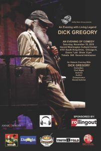 An Evening with Living Legend Dick Gregory @ Harold Washington Cultural Center