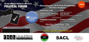 Political Forum @ Apostolic Church Of God- Banquet Hall  | Chicago | Illinois | United States