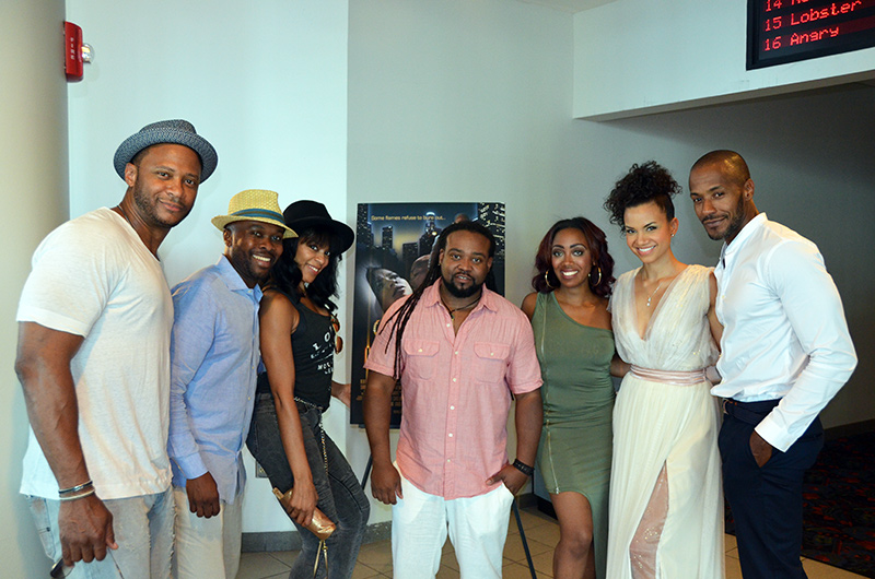 "Director Corey Grant and ""Illicit"" cast"